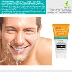Sữa rửa mặt cho nam Neutrogena Visibly Clear Skin Stress Control (150ml)