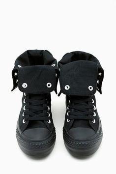 Converse All Star High-Top Sneaker in Black: