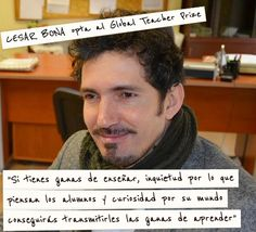 El mejor profesor del mundo... ¿Español? Cesar Bona opta al Global Teacher Prize #GlobalTeacherPrize - Inevery Crea