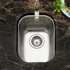 The Houzer Club Series Undermount Small Bar/ Prep Sink Is Made Of Premium  Grade Stainless Steel. The Lustrous Satin With Highlighted Rim Will Accent  Any ...