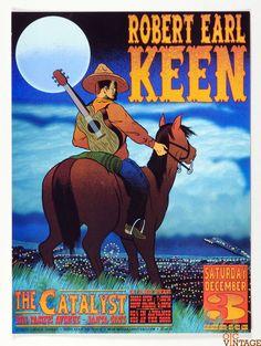 Robert Earl Keen Poster 2005 Dec 3 the Catalyst Santa Cruz Chuck Sperry