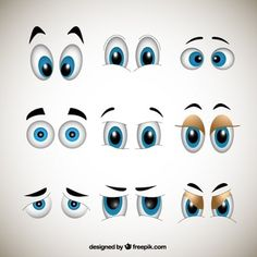 Cartoons olhos
