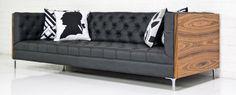 koenig sofa in rosewood and montana smoke faux leather $3100