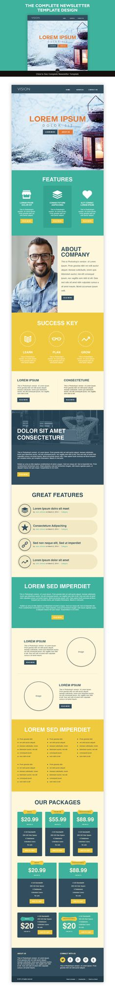 14 Email Newsletter Templates Bundle Newsletter templates, Email - professional email template