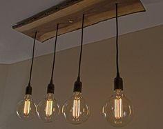 Spécial en bois Edison lustre un dun genre belle 8 pendentif