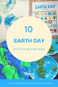 10 earth day activities for kids. These activities are a mixture of crafts, sensory play and games. There is something suitable for toddlers, preschool and primary school children. Art Activities For Toddlers, Earth Day Activities, Spring Activities, Preschool Activities, Crafts For Kids, Preschool Learning, Teaching, Earth Day Crafts, Creative Play