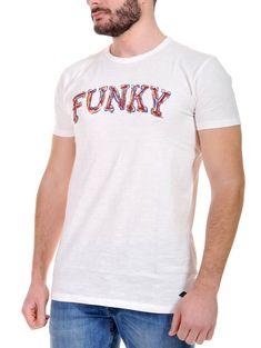 FUNKY BUDDHA Ανδρικό λευκό κοντομάνικο T-Shirt μπλουζάκι Βούδας 85577991d62