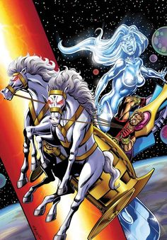 Female Silver Surfer aka Juno °° with Hercules (Marvel Comics)