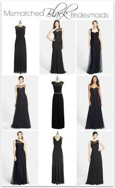 Mismatched Black Bridesmaid Dresses bridesmaid dress, sequin bridesmaid dress