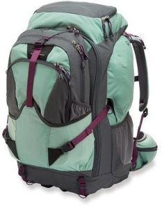 I read http://www.nomadicmatt.com/travel-tips/choosing-the-right-backpack/ and found this backpack on REI, looked good, not too expensive. REI Grand Tour 80 Travel Pack - Women\'s
