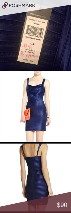 Bcbg rivas cocktail dress blue