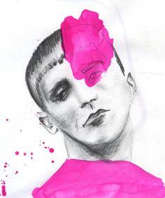 Illustration in style of Richard Kilroy