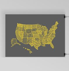 Scratch off usa map with national parks travel tracker map us map art print zentangle united by kristinacarterprints sciox Image collections