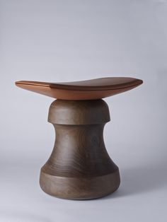 Christophe Delcourt-Fou #Stool Launching for NYC x Design in May 2015 The bases are made of French walnut and the seat is leather.