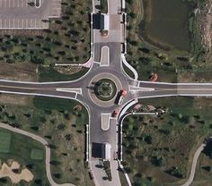 Gilmer and Midlothian roads roundabout