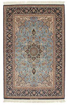 Isfahan silkkiloimi allekirjoitettu: Davari-matto 130x200