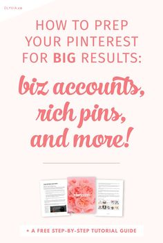 It's one thing to have a Pinterest account, but it's another to get the MOST out of it for your blog or creative business! Learn the expert ways to prep your Pinterest for maximum results. (These tips are what grow my followers by the hundreds each week!)