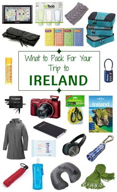 Pack these essential travel items for your holiday to Ireland.