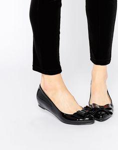Bild 1 von Glamorous – Lack-Ballerinas mit Zierschleife, in Schwarz