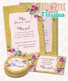 Invitación cumple de 15, tarjeta de quince imprimible
