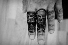 Incredible Mens Skeleton Finger Tattoo tatuajes | Spanish tatuajes |tatuajes para mujeres | tatuajes para hombres | diseños de tatuajes http://amzn.to/28PQlav