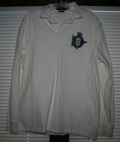 Men's Polo Ralph Lauren Institut Nautique Sailing Nautical pad Rugby Shirt-Large #PoloRalphLauren #PoloRugby