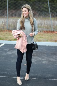 GREY AND BLUSH OUTFIT