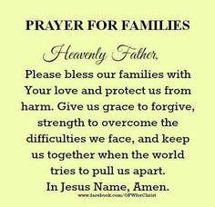 Quotes about family family blessing quotes matt quotes ideas blessed family quotes Prayer Scriptures, Bible Prayers, Faith Prayer, God Prayer, Power Of Prayer, Bible Verses, Bible Quotes, Catholic Prayers Daily, Powerful Scriptures