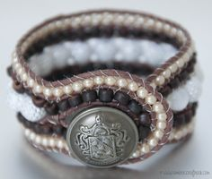Brown and While Thick DIY Wrap Bracelet