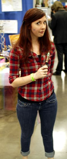 Amy Pond watching for the Silence
