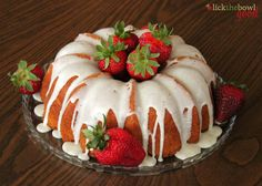 Lick The Bowl Good: Very Vanilla Bundt For My Baby Brother  (Pinned for decorating idea on Strawberry Cake)