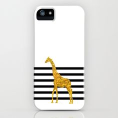 Gold Giraffe iPhone & iPod Case by Gal Ashkenazi - $35.00
