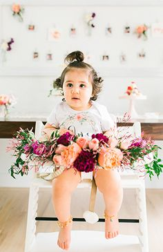 Floral First Birthday Party Fit for Foodies - Inspired By This 1 Year Old Birthday Party, First Birthday Party Themes, Fairy Birthday Party, Garden Birthday, First Birthday Outfits, Girl First Birthday, Birthday Bash, Baby Birthday, Birthday Ideas