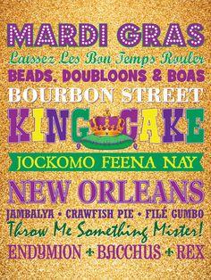 Mardi Gras Decoration- Instant Download  8x10 Sign- Purple Green Gold Subway Art New Orleans