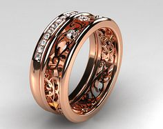 Natural Aquamarine Halo Diamond Engagement Ring by LaMoreDesign