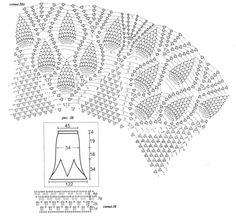 Crochet diagram for dress skirt