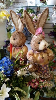 She & He Easter Bunnies Janda Florist ~ Cockeysville,  MD