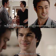 "2x04 | in the gag reel he was like ""Hey! Ian."""