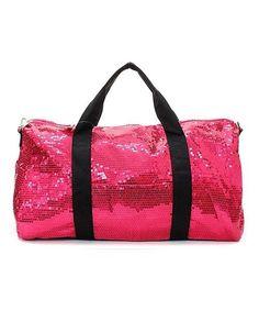 NEW HOT!!! SEQUIN DUFFLE BAG GLITTER SHOPPING TOTE TRAVEL BAG GYM BAG HOT PINK#8 #SequinDuffle #DUFFLEBAGTotesShoppers