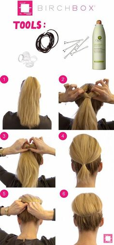 How to Get a Reverse Topsy Tail Bun
