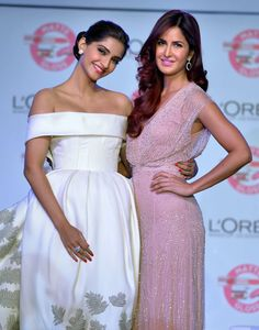 Katrina Kaif and Sonam Kapoor seen together at an event organised by L'Oreal- best friend goals.