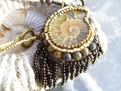 $75.00 Native American Jewelry Ammonite Necklace this is a by gitksanfire