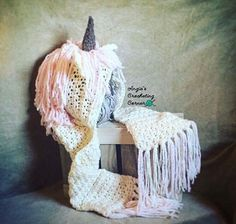 Unicorn Hooded Scarf Crochet Unicorn Hooded Scar Unicorn Christmas Makes, Christmas Items, Crochet Hooded Scarf, Crochet Hats, Childrens Gifts, Gifts For Kids, Etsy Shop Names, Crochet Unicorn, Etsy Handmade