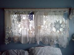Doilies for curtains via Lynne Flynn(Non-Consumer Advocate)