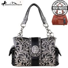 NWT Montana West Concealed Handgun Collection Handbag Purse ***FREE SHIPPING*** #MontanaWest #ConcealedCarry #Purse #Concho #Paisley #Rhinestone #Bling #ShoulderBag
