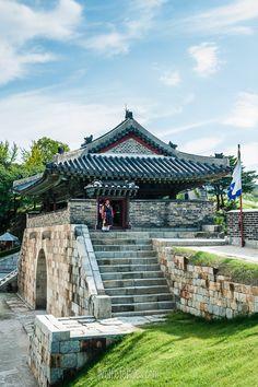 Fortress Guard at Hwaseong Fortress in Suwon, South Korea