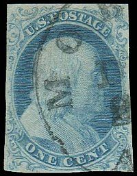 This rare example of the 1851 Franklin 1c has a $57,500 starting bid