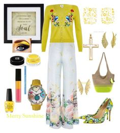 """""""Rejoice In Sunday Sunshine!"""" by kpoulin1217 on Polyvore featuring Paola Quadretti, New View, WALL, Sakroots, Le Métier de Beauté, Olivia Pratt, OPI, Yumi, Stephen Webster and BERRICLE"""