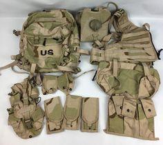 MOLLE II Rifleman Set DCU Desert Camo Assault Pack FLC Pouches Hydration System Military Surplus, Military Jacket, Molle, Assault Pack, Desert Camo, Military Equipment, Tactical Gear, Duffel Bag, World War Two