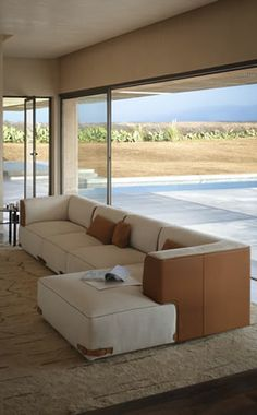 Soho Sectional Sofa by Fendi Casa Sofa Furniture, Luxury Furniture, Outdoor Furniture Sets, Furniture Design, Luxury Sofa, Luxury Living, Sofa Design, Fendi Casa, Beach Houses